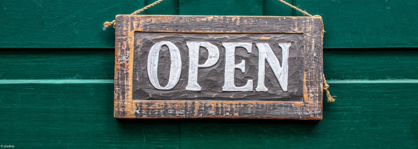 """Schild """"geöffnet"""""""